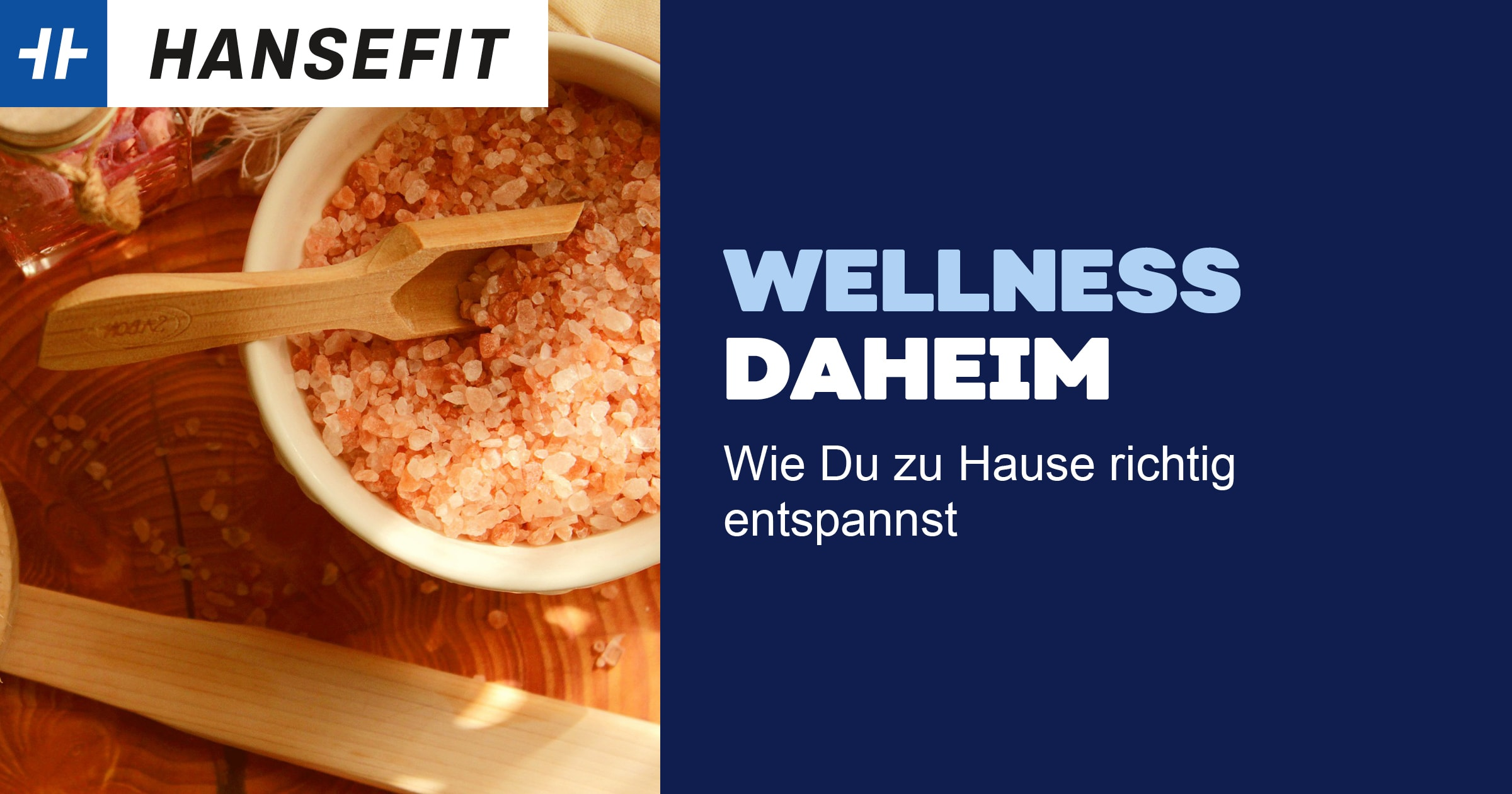 Wellness daheim Schale mit Peeling Erholung
