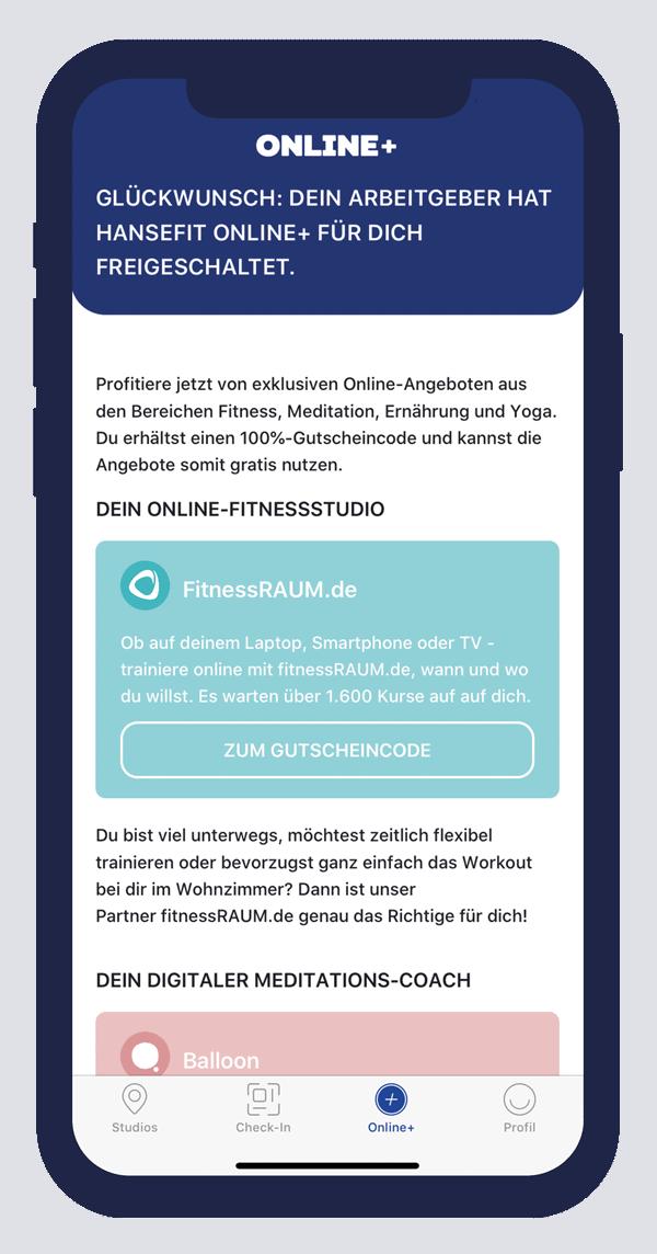 Hansefit-App Online+