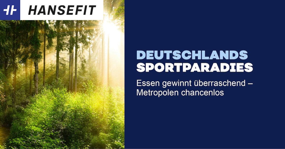 Sport in Deutschland Wald mit Sonnenschein