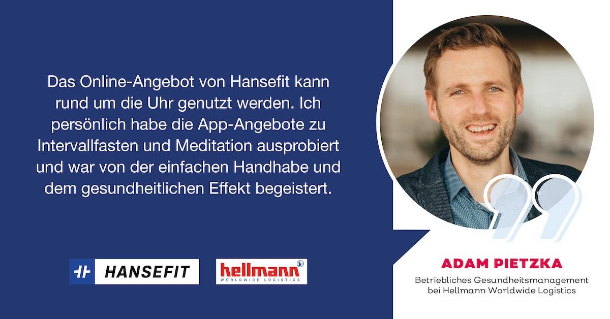 Firmenfitness Hansefit Testimonial Hellmann Logistics